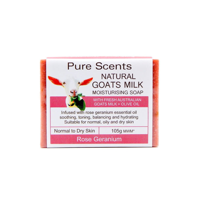 Goat Milk Soap Bar - Rose Geranium - Pure Scents
