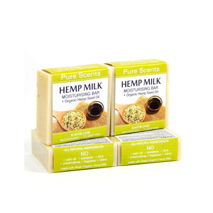 Hemp Milk Soap Bars - Kaffir Lime Value Pack  4 x 110g - Pure Scents