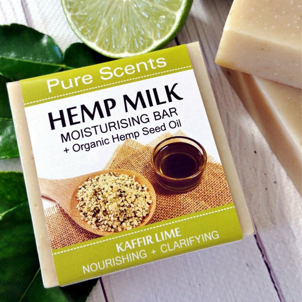 Hemp Milk Soap Bar - Kaffir Lime - Pure Scents