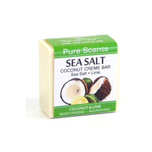 Sea Salt & Coconut Creme Soap Bar - Coconut & Lime - Pure Scents