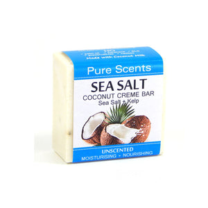 Sea Salt & Coconut Creme Soap Bar - Kelp Unscented - Pure Scents