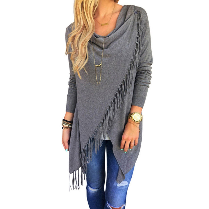 Womens Winter Loose Long Sleeve Cotton Casual T Shirt Tunic Tops Fashion Blouse