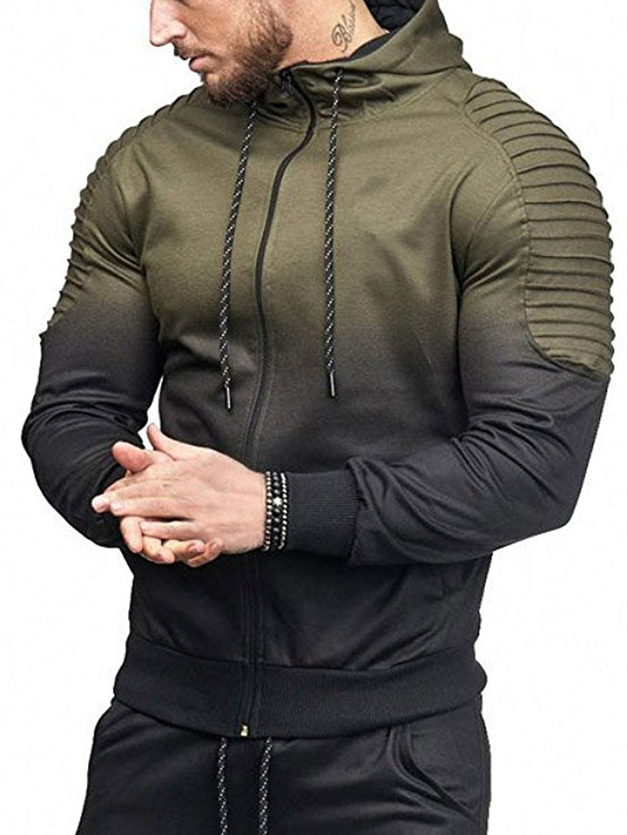 Shoulder Pleated Hoodie