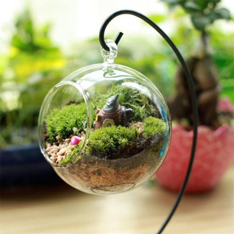Glass Ball Vase Glass Aquarium Fish Tank Hanging Flower Pot Hydroponics Plant Vase Home Decoration