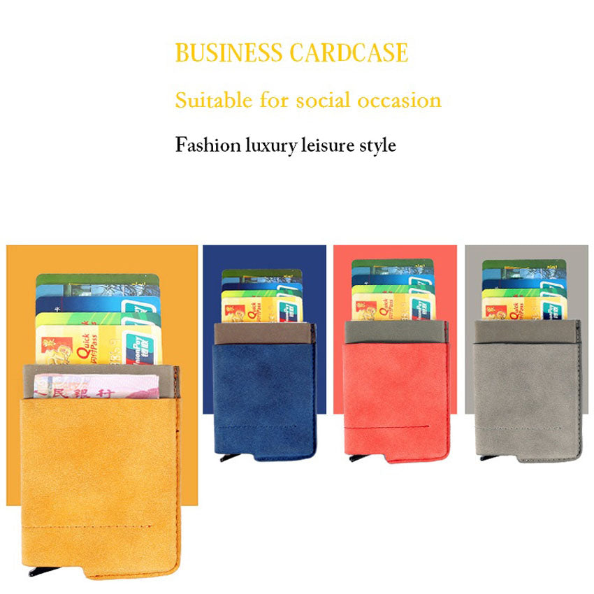 Men And Women Business Credit Card Holder Wallets Pocket Case RFID 6 Cards Pop Up Card Case Card Wallet