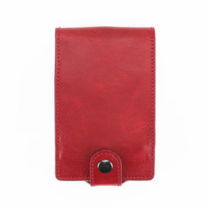 New RFID Blocking Men Women Leather Wallets Card Case Automatic Pull Down ID Credit Card Holder Pop UP Cardholder
