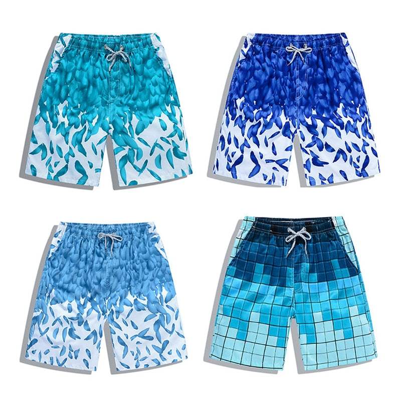 2019 Summer Fitness Shorts Men Board Shorts Brand Swimwear Men Beach Shorts Men Short Quick Dry Women Trunks Printed Boardshort
