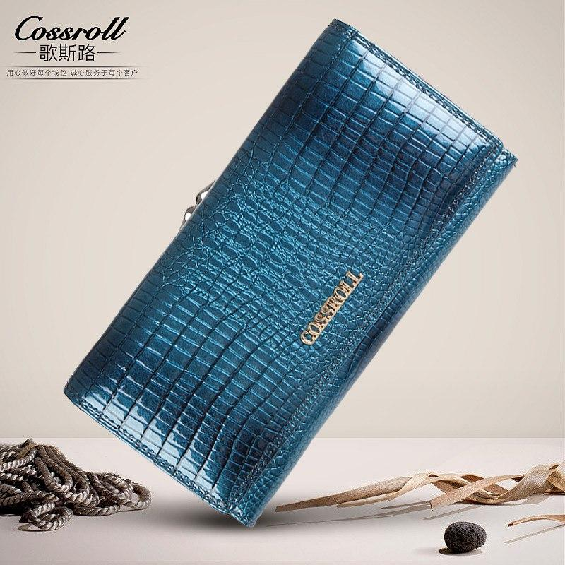 Brand Womens Wallets and Purses Female Long European and American Style Genuine Leather Wallet Coin Purse Ladies Designer Wallet