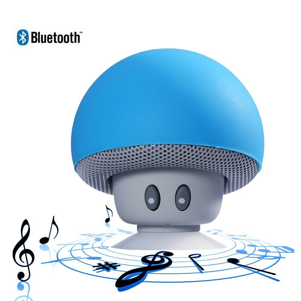 Mini Wireless Bluetooth Speaker MP3 Music Player with Mic Waterproof Portable Stereo Bluetooth Mushroom Speaker For Phone PC