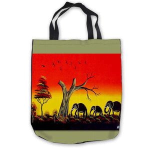 Custom Canvas African Art ToteBags Hand Bags Shopping Bag Casual Beach HandBags Foldable 180713-1-31