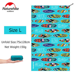 Naturehike Lightweight Compact Microfiber Quick Dry Camping Towel Fast Drying Travel Hiking Bath Towel Beach Swimming Gym Towel