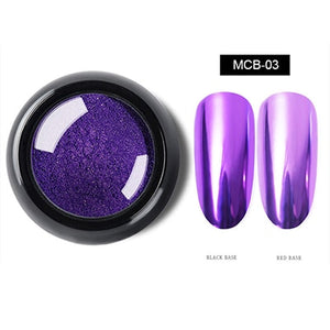 Nail Art Glitter Mirror Powder Sparkly Chrome Glitter Rub Pigment Powder For Nail Design Manicure Mirror Glitter 0.5g NMCB
