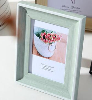5 Sizes Rectangle Pictures Frames Resin Desk Table Decor Photo Frame with Transparent Organic Glass Wedding Family Photo Frames