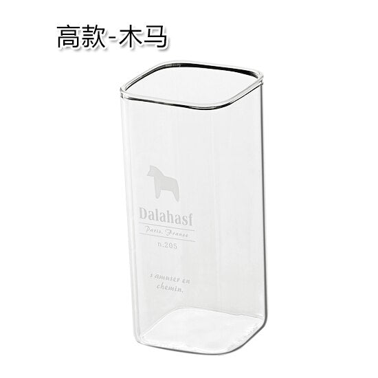 Square Glass Wine