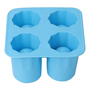 Ice Cube Tray Mold Makes Shot Glasses Ice Mould  4-Cup Novelty Gifts Ice Tray Summer Drinking Tool Ice Shot Glass Mold