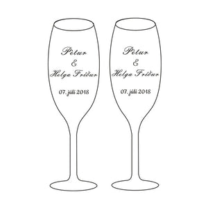 Personalized Wedding Glasses with Gift Box Champagne Flutes Crystalline Party Drinking Glass Engrave Copas De Cristal H1188