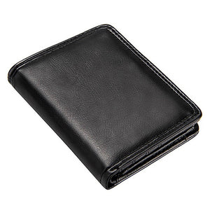 Black Men's Short Wallet 7 Types Men Small Wallet with Coin Pocket Business Male Coin Purse ID Card Holders For Mini Clutch Bags