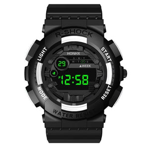 HONHX 2019 Luxury Mens Digital LED Watch Digital Date Alarm Waterproof Sport Men Outdoor Electronic Watch Clock Dropshipping Q