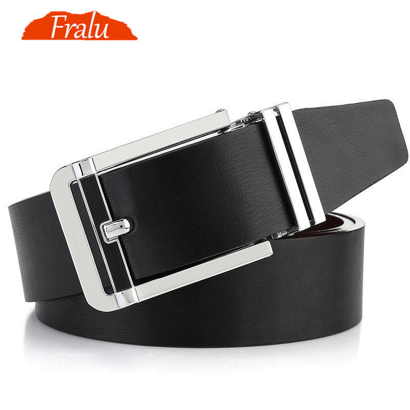 FRALU High quality men's genuine leather belt designer belts men luxury  male belts for men fashion vintage pin buckle for jeans