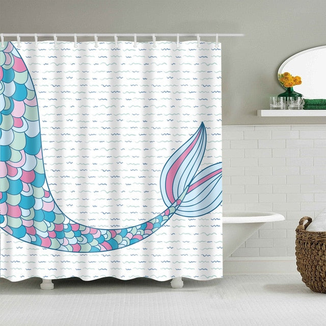 Bath Curtain Sea Turtle Waterproof Shower Curtain Octopus Bathroom Curtains with 12 Hooks 3D blackout curtain for bathroom