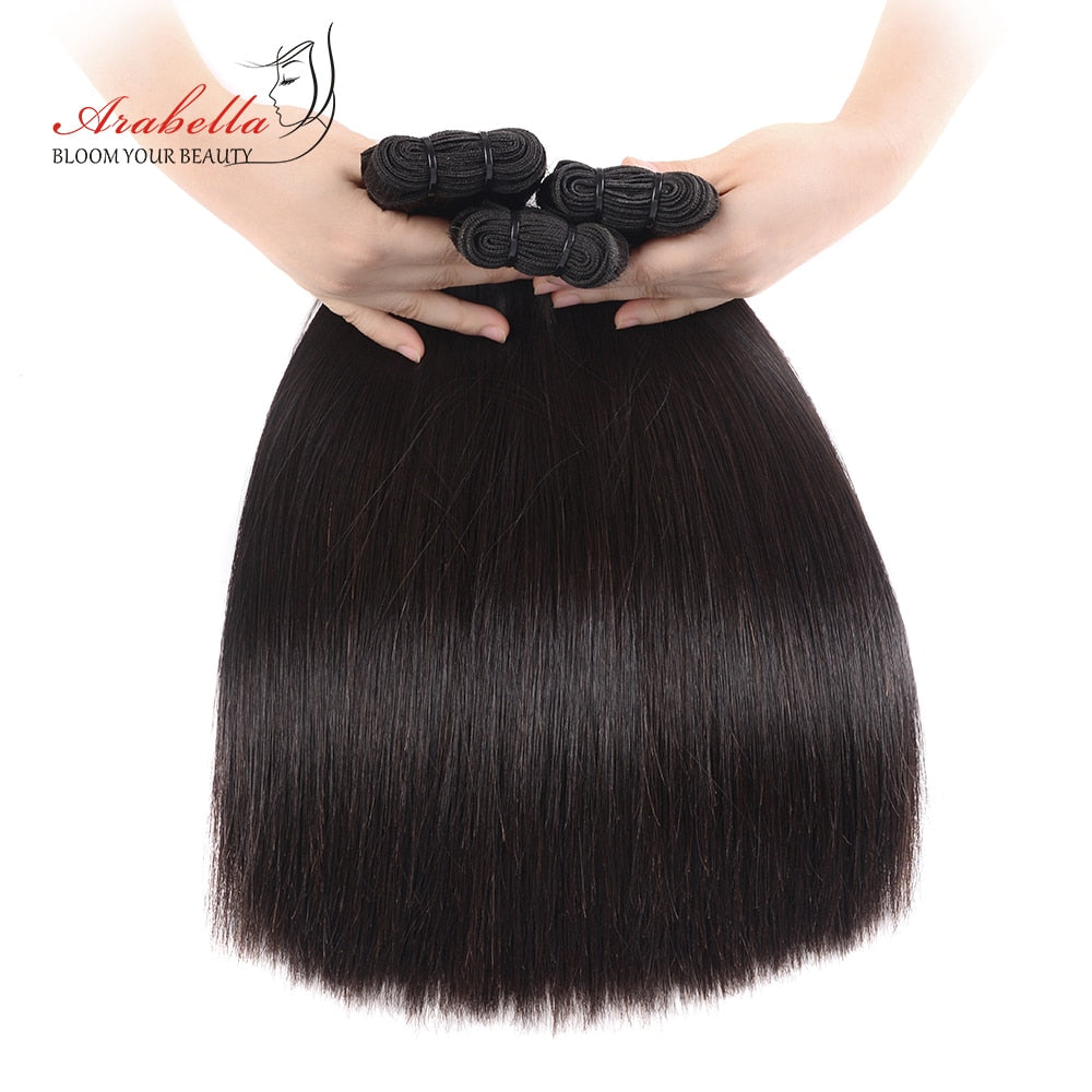 Vrigin Hair Extension Double Drawn Straight Hair Weave Bundles Natural Color Thick Ends Hair Bundles For High Level Customer