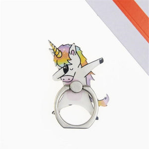 Cartoon Unicorn Horse Zebra Panda Finger Ring Smartphone Stand Holder Mobile Phone Holder For iPhone Huawei All Phone