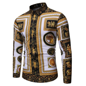 Shirt  Men Baroque Floral