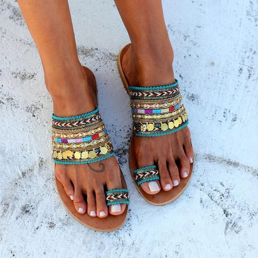 High Quality Women's Slippers New Fashion Artisanal Sandals Flip-Flops Handmade Greek Style Boho Flip Flop Comfortable Sandals