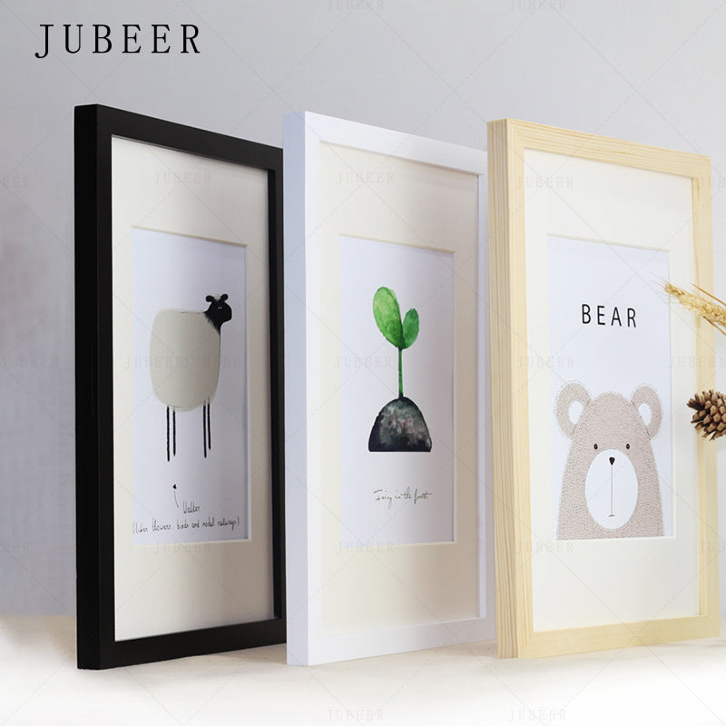 Nordic Simple Wooden Frame A4 A3 Black White Color Picture Photo Frames for Wall picture frames wall photo frame  home decor