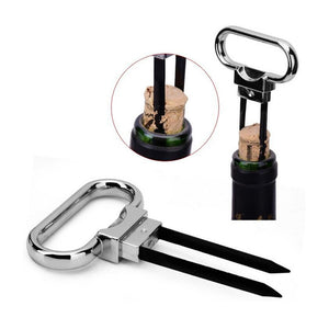 Portable Wine Bottle Opener Pumps Cork Corkscrew Out Tool Handheld Labor-saving Type Bottle Cork Pulle