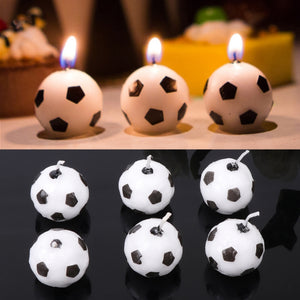 3/6Pcs/Set Soccer Ball Football Candles For Birthday Party Kid Supplies Decoration Wholesale&DropShip