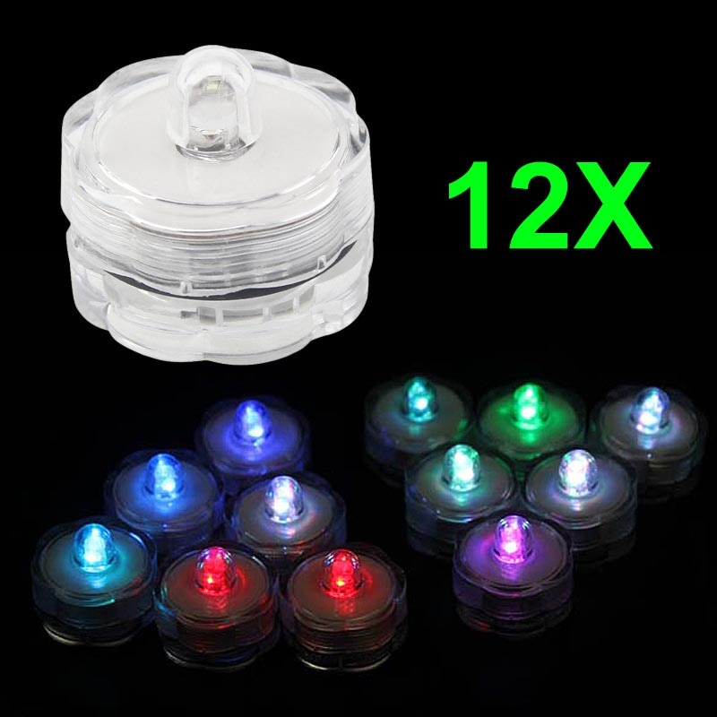12pcs Super Bright Submersible Waterproof