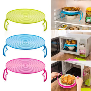 Multi Functional Microwave Oven Heating Layered Steaming Tray Double Layer Rack Bowls Holder Organizer Shelving Kitchen Tools