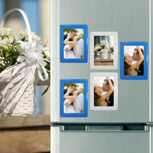 WColorful Magnetic Picture Frames 11.8*16cm Photo Magnets Photoframe Refrigerato PVC Magnetic Photo Cadre photo