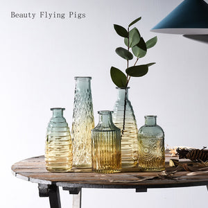1Pcs Small Glass Vase