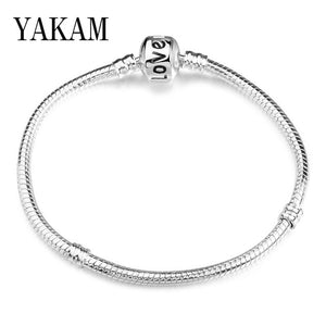 Free Shipping Silver 925 Charms Bracelet Fit Original Pandora Snake Chain Pulseras for Women DIY Jewelry Mickey Bangles Berloque