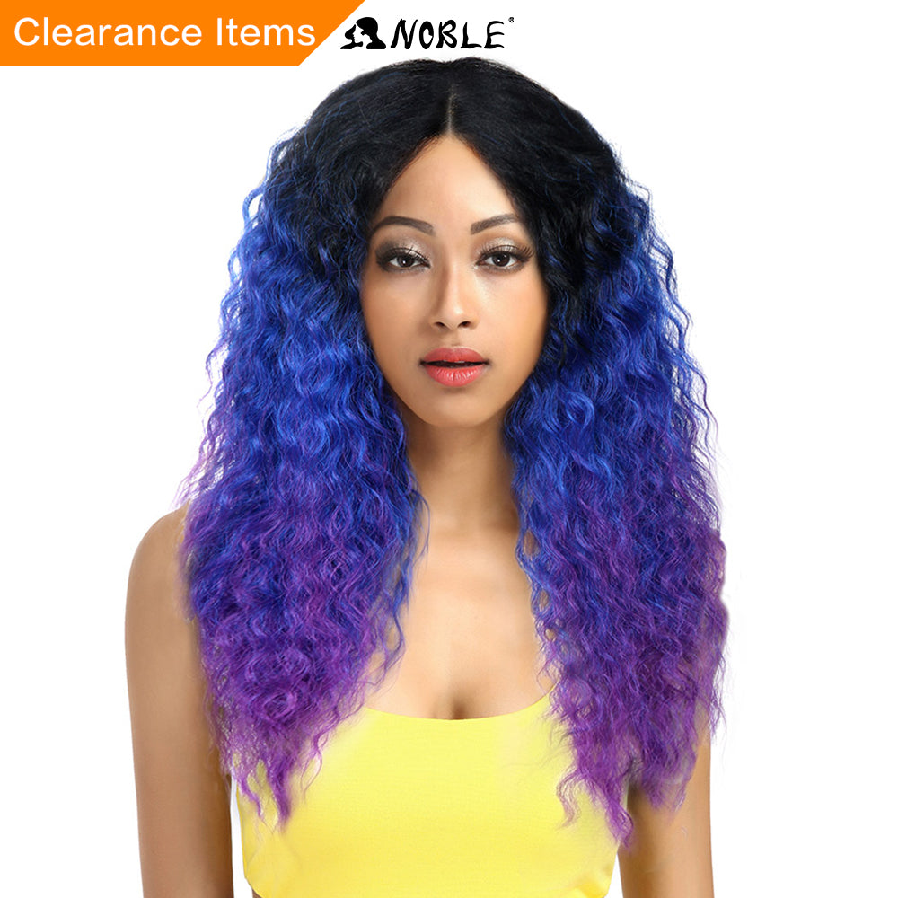 Noble Hair Lace Front Ombre Blonde Wig 26inch Long Curl Synthetic Wigs For Black Women 16 COLOUR Free Shipping