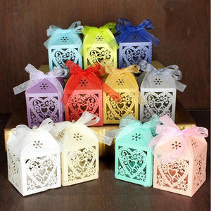 10Pcs/set Love Heart Laser Cut