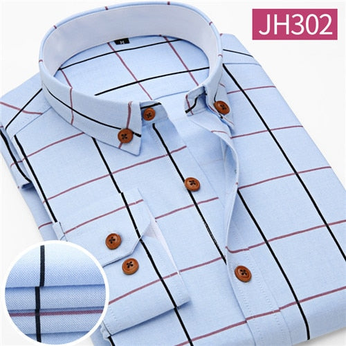 Men Shirt Casual Long Sleeve