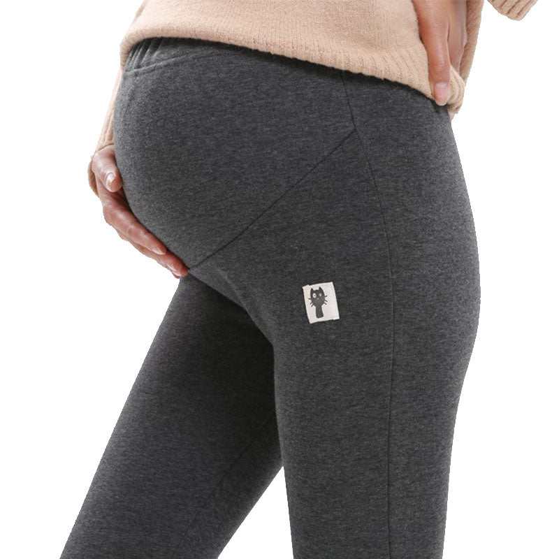 4XL Winter Velvet Pants For Pregnant Women Maternity Leggings Warm Clothes Thickening Pregnancy Trousers Maternity Clothing