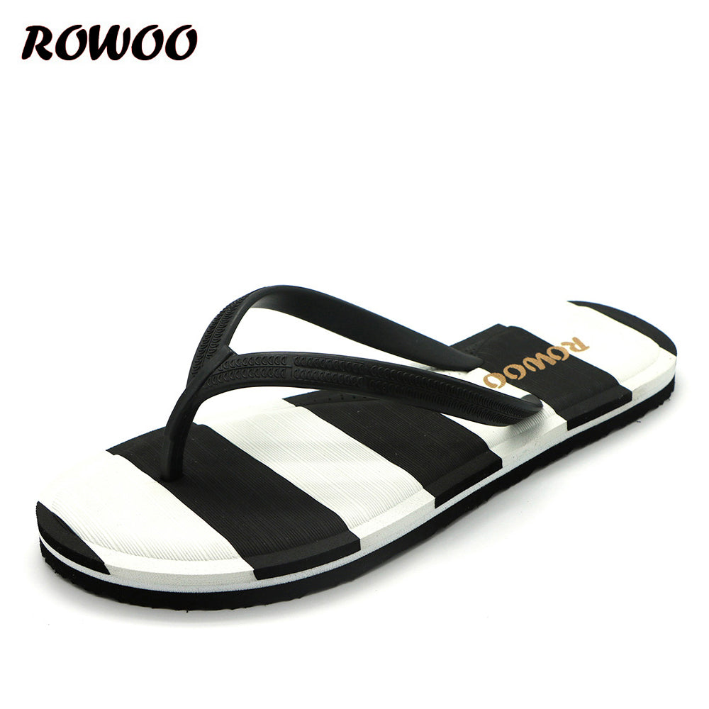 Brand New Women's Thong Flip Flops Striped Casual Summer Sandals for Ladies Navy Style Beach Shoes for Women Size 36-41