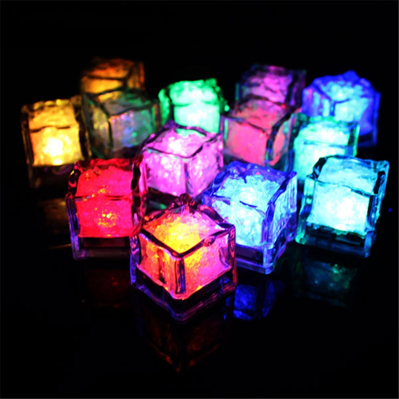 12 pieces flame less led submersible light candle