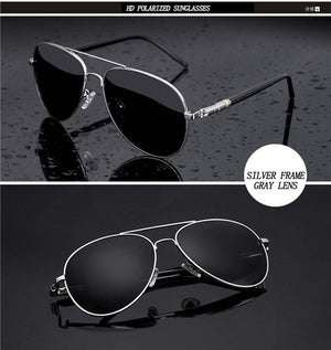 Aviation Metail Frame Quality Oversized Spring Leg Alloy Men Sunglasses Polarized Brand Design Pilot Male Sun Glasses Driving