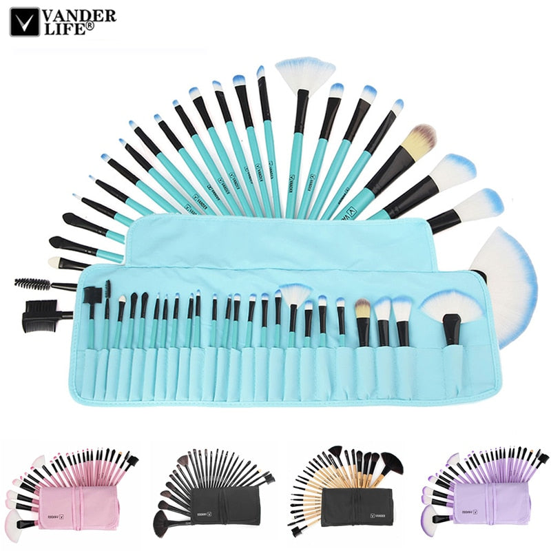 Professional 24PC Set Makeup Brushes