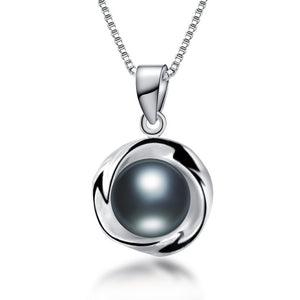925sterling silver necklace pendant for women genuine 100% real AAAA high quality Natural freshwater pearl pendant  jewelry8-9mm