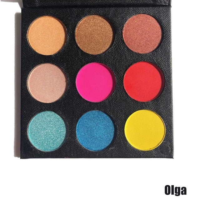 VVHUDA Eyeshadow Makeup Palettes 12 color Eye shadow Shimmer Matte Gorgeous Vegan Professional Powder Natural Smoky Long Lasting