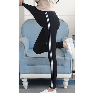 Women Leggings Maternity Pants For Pregnant Women Clothes Side Striped Sideseam Sweatpants Comfy Leisure Pregnancy Leggings