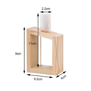 Simple Nordic Glass Flower Vase Tube Bottle Hydroponic Terrarium Container Holder Decor for Bedroom Living Room Home Decoration