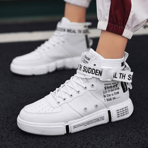 Leader Show Men's Fashion Casual Shoes High Top Sneaker 2019 Spring New Men Shoes High Quality Non-slip Walking Shoe Zapatillas