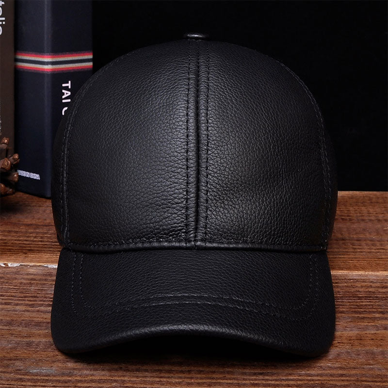HL130 2018 Men's genuine leather baseball cap hat brand new style spring brand new style winter Russian warm one fur caps hats